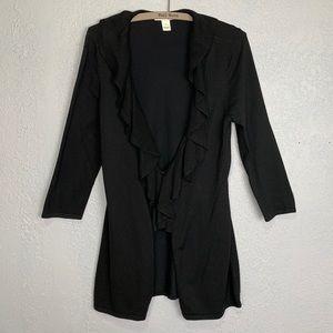 White House Black Market ruffle front cardigan